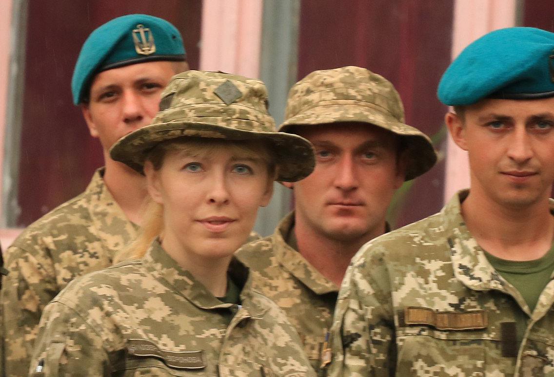 З сослуживцями у день морської піхоти