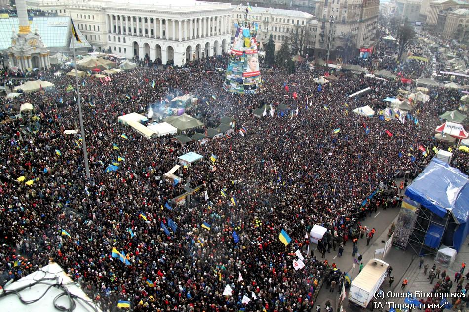 Віче на Майдані 19.01.2014. Вид згори