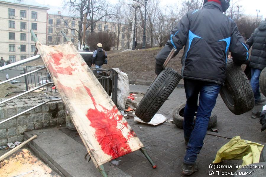 Київ, 20 лютого. Майдан одразу після контратаки повстанців (ФОТО)